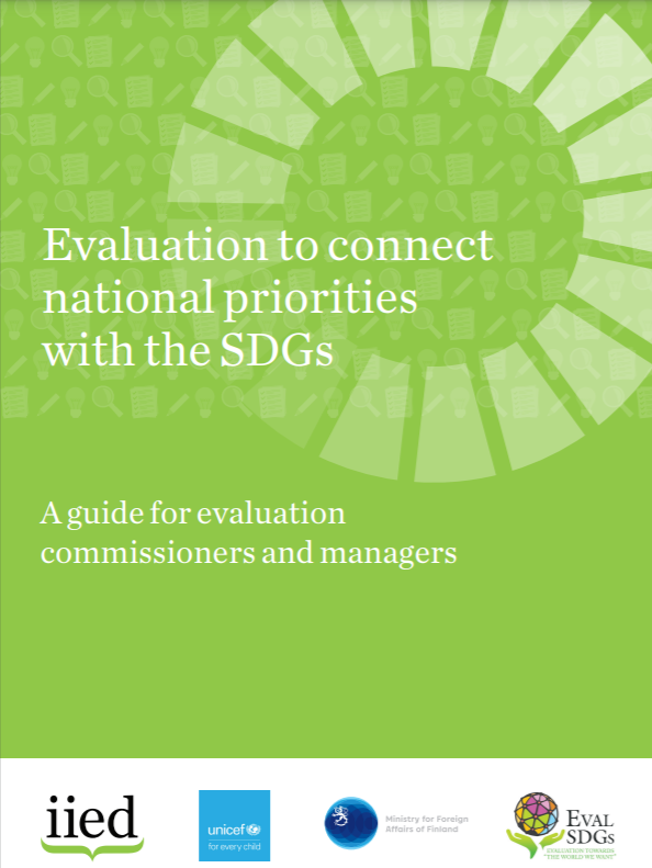 cover of Evaluation to connect national priorities with the SDGs