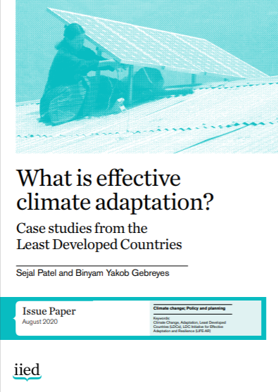 Cover of What is effective climate adaptation? Case studies from the least developed countries