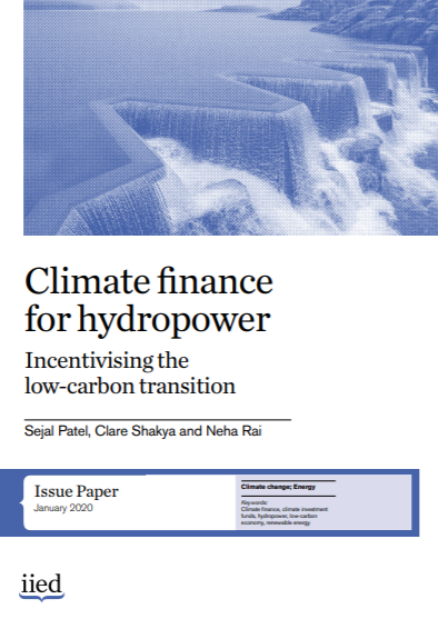 Cover of Climate finance for hydropower