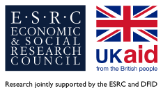 ESRC-DFID Joint Fund for Poverty Alleviation Research logos