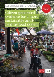 Cover of Citizen-generated evidence for a more sustainable and healthy food system