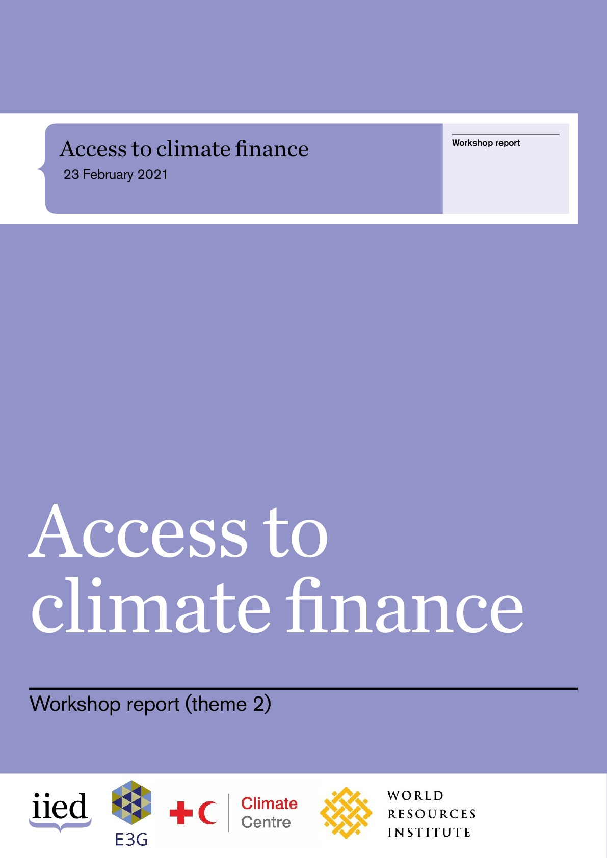 Access to climate finance - Workshop Report - 23 February 2021