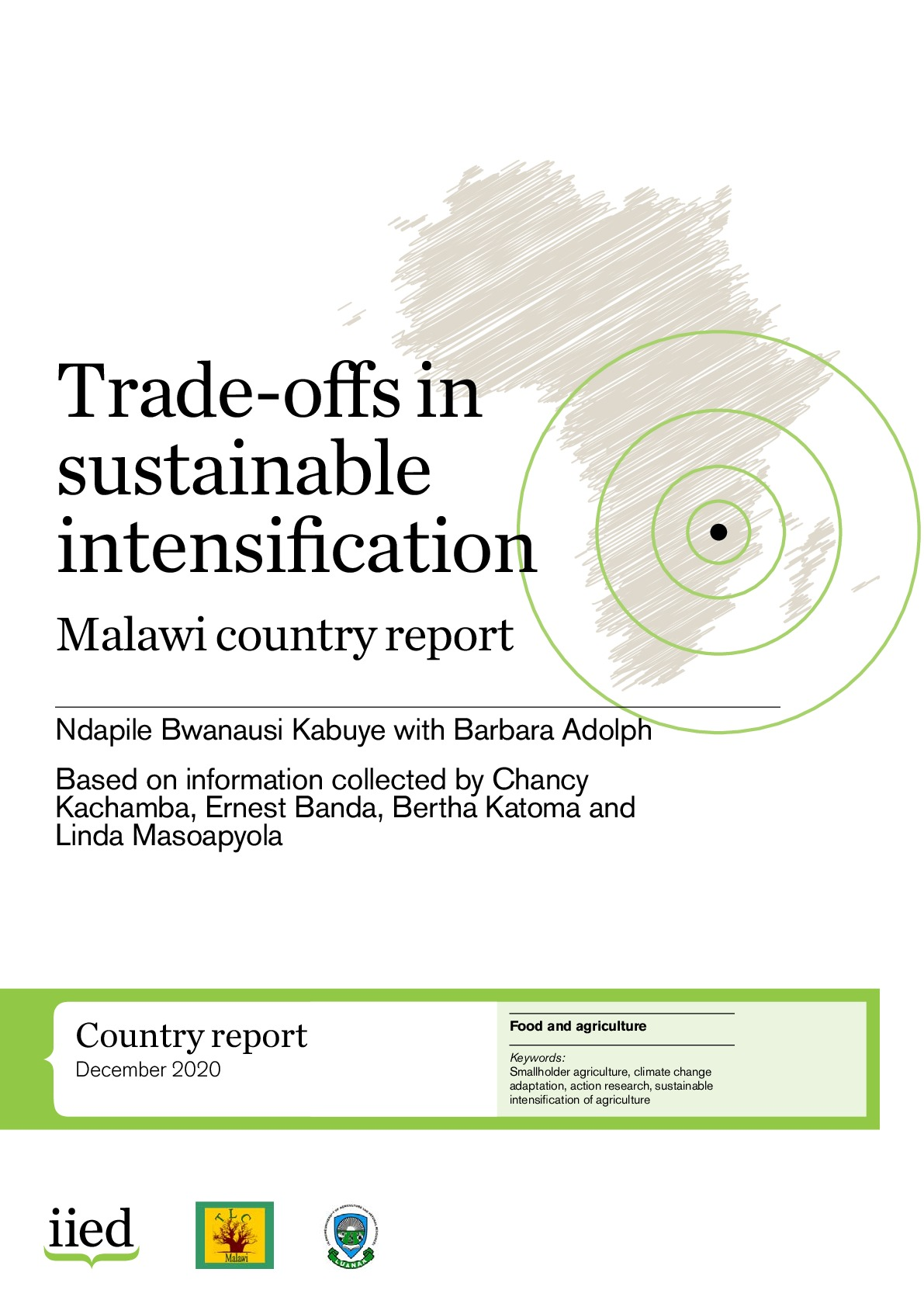 Trade-offs in sustainable intensification: Malawi country report