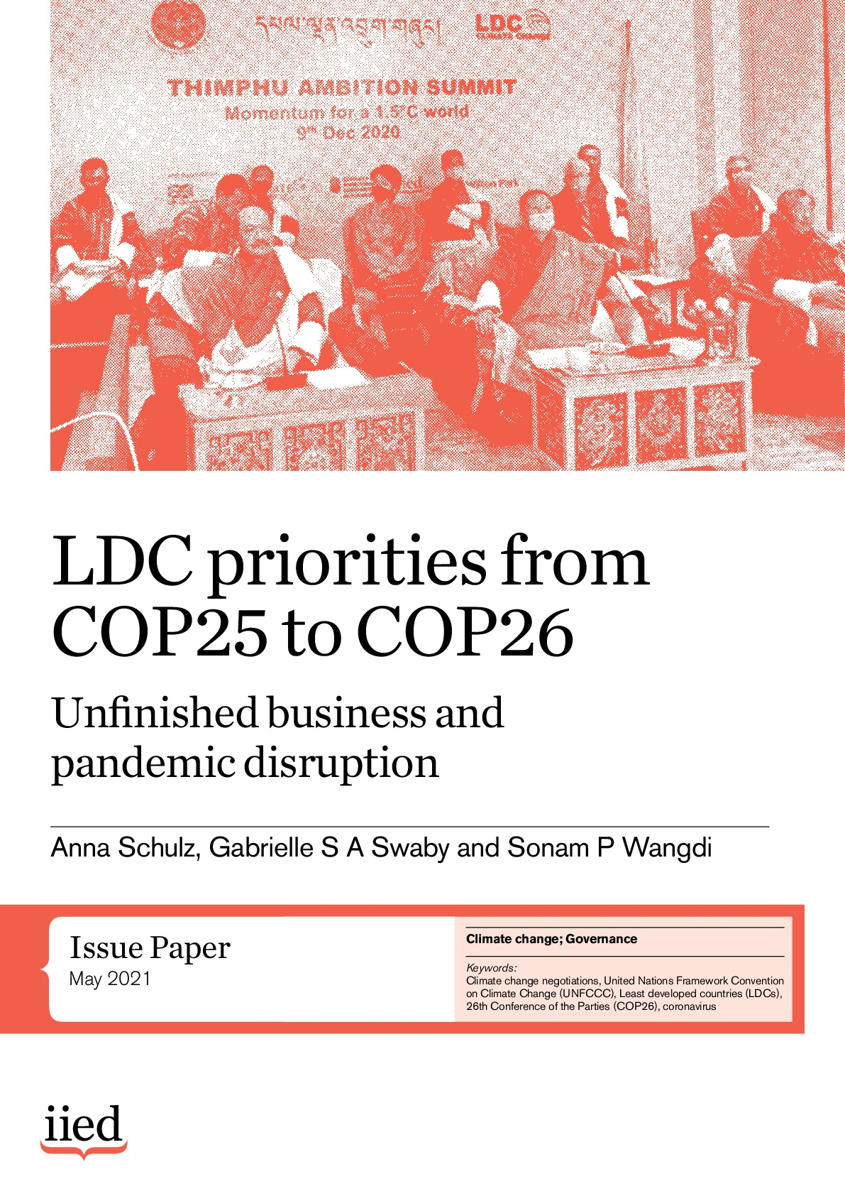 LDC priorities from COP25 to COP26: Unfinished business and pandemic disruption