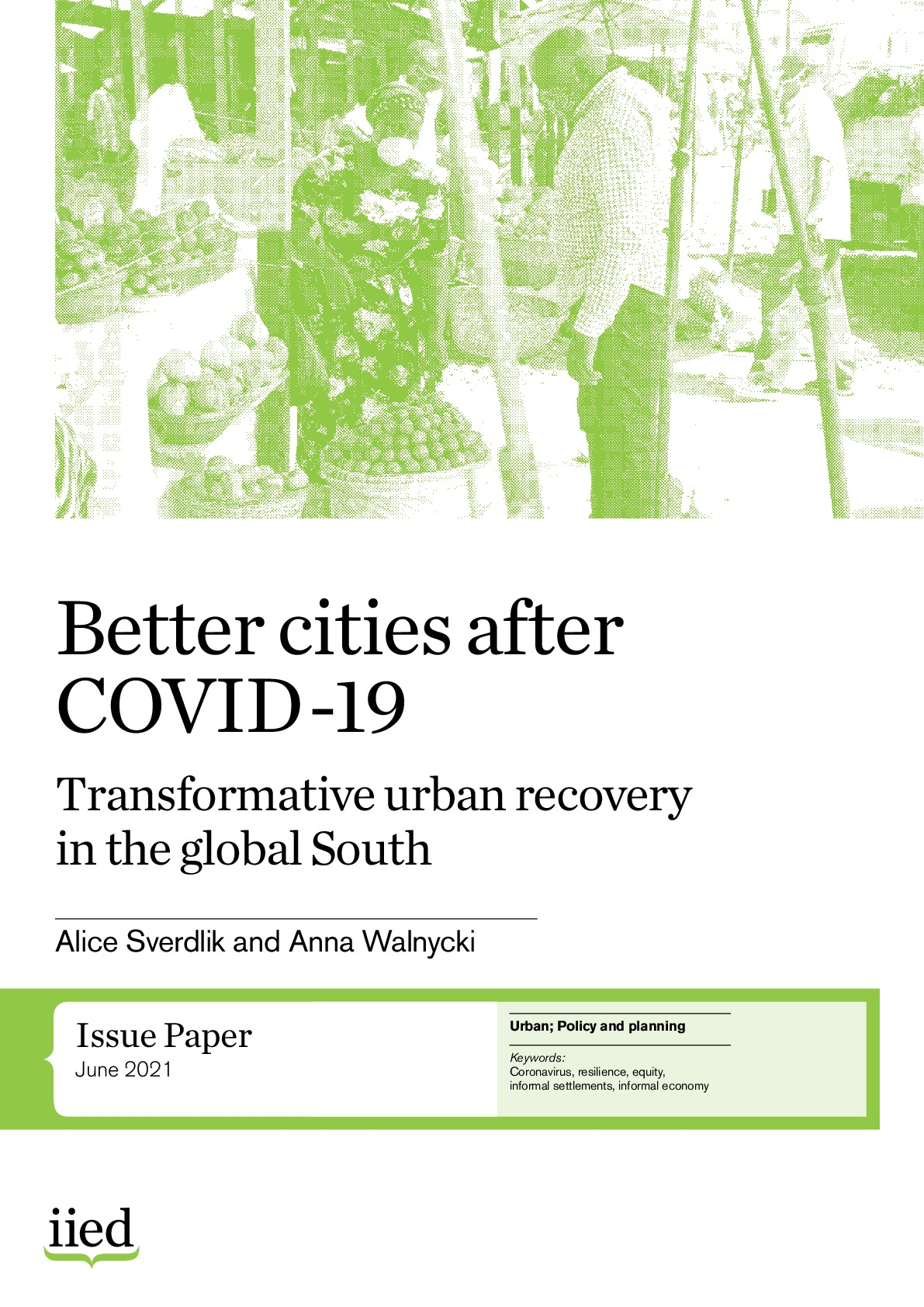 Better cities after COVID-19