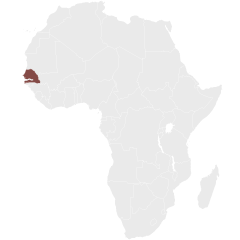 Map showing Senegal