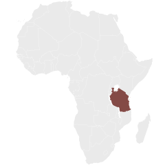 map showing Tanzania