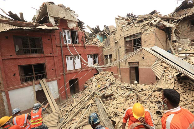 A 7.9 magnitude earthquake struck in Nepal, causing widespread devastation and loss of life (photo: Laxmi Prasad Ngakhusi / UNDP Nepal. Creative Commons via Flickr)