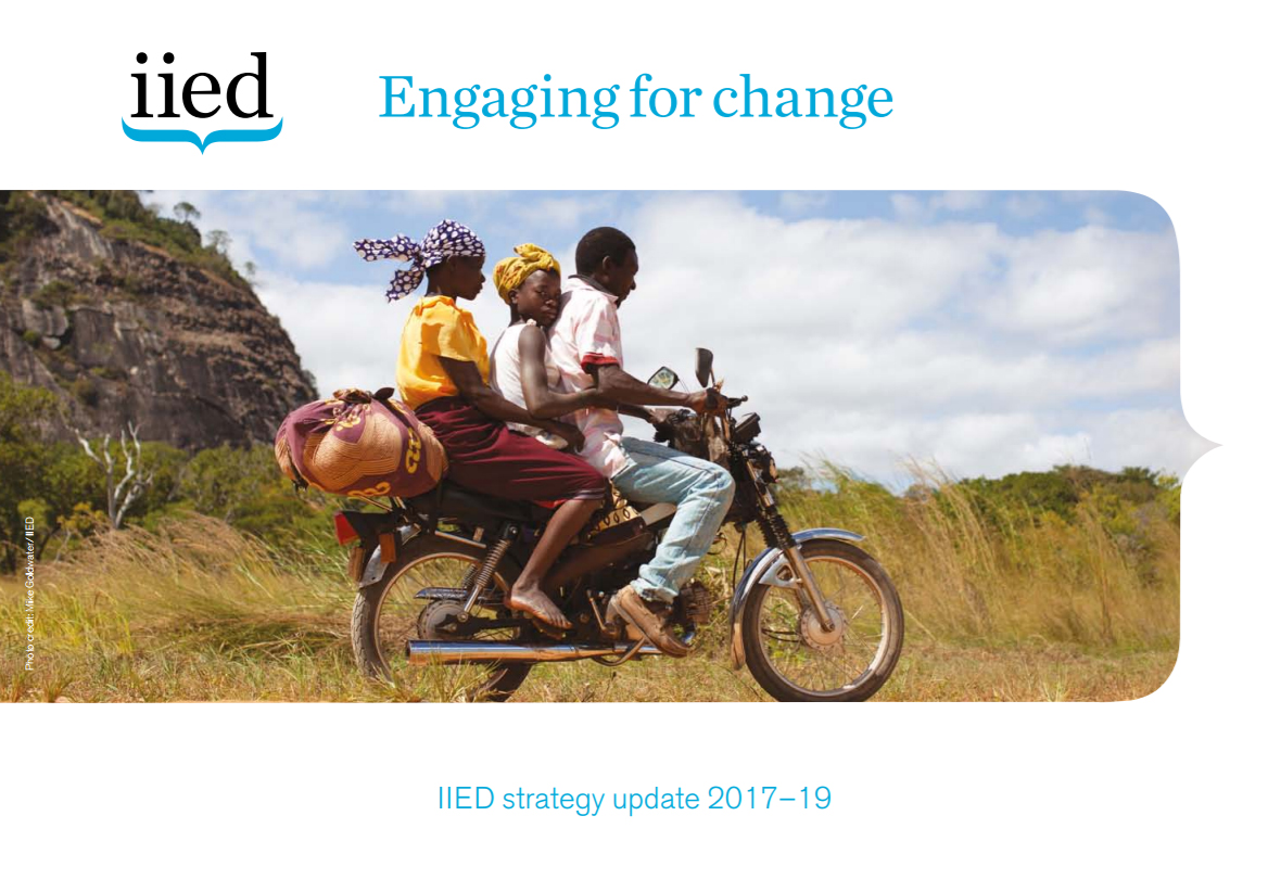 IIED's 2017 strategy update