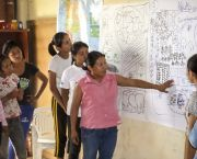 Women from Paraguay's Ita Guasu indigenous community discuss their community development plan. Civil debate and value-based decision making will be key to implementing the SDGs (Photo: USAID, Creative Commons via Flickr)