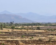 Arid landscape with mountains in the background