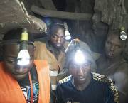 Employees work deep within a tunnel at the Nsangano Gold Mine, Mawemeru village in Geita District, Tanzania (Photo: copyright Brian Sokol/Panos Pictures)