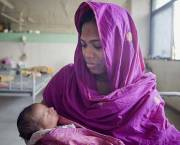 A mom and her newborn baby at the Maternal & Child Health Training Institute in Dhaka, Bangladesh.