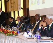 The gender balance of the panel of special guests at the opening of IIED's 9th International Conference on Community-Based Adaptation (CBA9) attracted criticism from the institute's staff (Photo: Matt Wright/IIED)