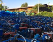 Hundreds of power-tillers from China lie unused in Ethiopia. They can be used to plow, power a water-pump, and generate electricity, but low sales were thought to be caused by a lack of technical information, showing how China's role in African agriculture must be researched (Photo: IFPRI-IMAGES, Creative Commons, via Flickr)