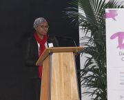 Fatima Denton, a member of IIED's Independent Expert Group, speaking at the Development and Climate Days conference (Photo: Matt Wright)