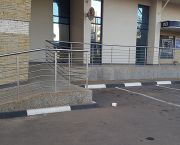 An image of the outside of a Malawi bank, showing a ramp installed for wheelchair users. Generally the country is lagging behind in terms of provisions for people with disabilities (Photo: Steve Sharra)