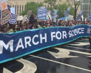 Thousands of scientists attended the March for Science in Washington D.C. to protest against political attacks on climate science and evidence-based research. Similar protests were held in over 600 cities around the world (Photo: Adam Fagen, Creative Commons via Flickr)