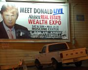 "A poster advertises Donald Trump's appearance at a ""Wealth Expo"" (Photo: Steve Rhodes, Creative Commons via Flickr)"