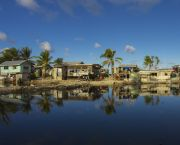The island nation of Tuvalu is one of the Least Developed Countries that is particularly vulnerable to climate change, with an average elevation of just two meters above sea level (Photo: Nick Hobgood, Creative Commons via Flickr)