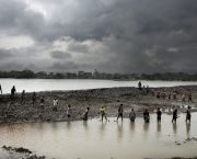 Building an embankment in the Bay of Bengal. Bangladesh has been forced to learn how to cope with the realities of climate change (Photo: Espen Rasmussen/PANOS)