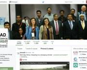 A snapshot of ICCCAD's Twitter page. Research organisations increasingly use social media platforms to communicate with their stakeholders (Image: ICCCAD)