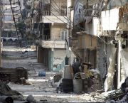 An image of a deserted and war-torn street in Aleppo. Four years of fighting have left much of the Syrian city in ruins. The UN recently warned that up to 300,000 people could be left without food if the last flight route into eastern Aleppo is cut (Photo: Freedom House Salaheddin, Creative Commons via Flickr)