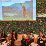 Achala C Abeysinghe (second left) recently spoke on a panel discussion at COP23 on Women Leading the World's Climate Agenda (Photo: Anne Schulthess/IIED) Achala C Abeysinghe (second left) recently spoke on a panel discussion at COP23 on Women Leading the World's Climate Agenda (Photo: Anne Schulthess/IIED)