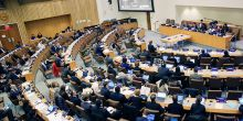 Policymakers at a UN meeting in New York discuss how to end the legal 'no man's land' on 50 per cent of the Earth's surface (Photo by IISD/Francis Dejon)