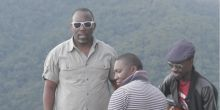 From left, musicians Wesa Kawesa, Drake and Myko Ouma learn about issues in the Bwindi Impenetrable National Park (Photo: Wesa Kawesa)