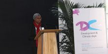 African Climate Policy Centre director Fatima Denton speaks at the 2015 Development & Climate Days event at COP21 (Photo: Matt Wright/IIED)