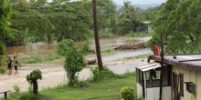 "Flooding in Fiji. Fiji's prime minister has said the his nation is in ""a fight for survival"" as climate change brings almost constant cyclones (Photo: TC Evans/Fijian Government)"