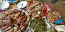 Plates of traditional Kabarole food