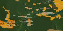 Screengrab of a map of indigenous peoples' territories in the Peruvian Amazon (Image: IBC Peru)