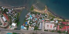 Aerial view of Honiara, Solomon Islands