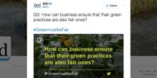 An example of a Twitter card created for IIED's  #GreenmustbeFair Twitter chat (Image: IIED)