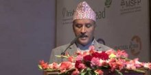 Lila Mani Poudel, chief secretary of the Nepal government, during the closing ceremony