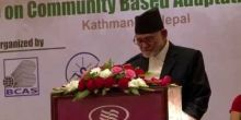 Sushil Koirala, Prime Minister of Nepal and chief guest at the opening ceremony