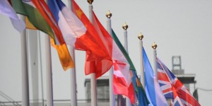 World flags flying