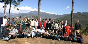 Group of participants stand for a picture during the International Forest Connect workshop in Nepal in February 2013.