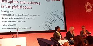 IIED senior associate Halina Ward, centre, at the Bond session on disruption and resilience in the global South