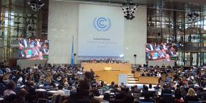 Negotiators, including representatives of the Least Developed Countries, at the UNFCCC conference centre in Bonn in January 2014 (Photo: IIED)