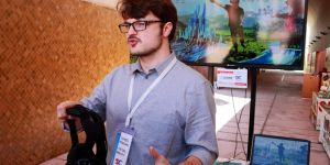 Participants at D&C Days took part in virtual reality game to help explain the complexities of making climate-related decisions (Photo: Red Cross Red Crescent Climate Centre)