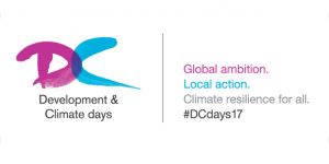 The logo for Development and Climate Days 2017