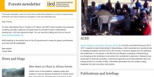 The March 2017 edition of IIED's forests newsletter