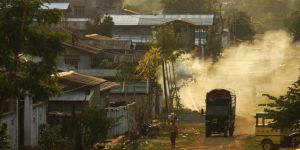 Myanmar is undergoing rapid economic change and urbanisation. Many new settlements like this one in Lashio lack basic services (Photo: Alex Drainville)