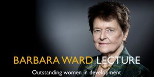 Gro Harlem Brundtland, who was special envoy of the United Nations Secretary-General on Climate Change  from 2007-10, will deliver this year's Barbara Ward Lecture (Photo: Joël Saget/AFP)