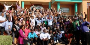 CBA12 participants wave goodbye after another successful event (Photo: Teresa Corcoran/IIED)