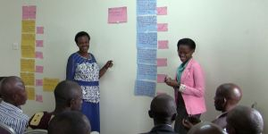 A discussion on protected area governance in a stakeholder workshop with a community on the edge of Lake Mburo National Park, Uganda (Image: Francesca Brooker/IIED)