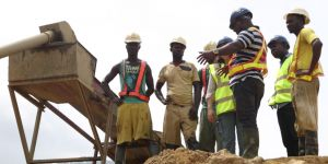 Small-scale miners in Ghana